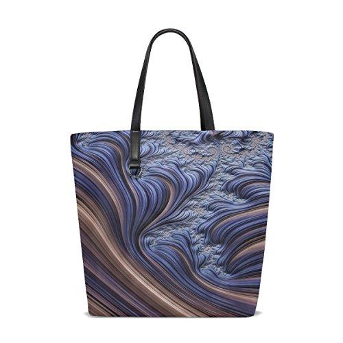 Price comparison product image Women Fractal Smooth Lines Flowing Lines Dimensional Handle Satchel Handbags Shoulder Bag Tote Purse Messenger Bags