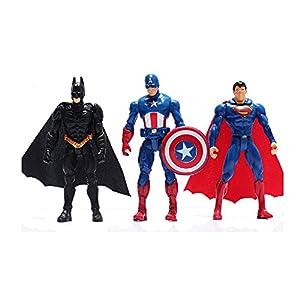 6Pcs/Set The Avengers Superheroes Figures Thor Captain America Batman Superman Hulk Iron Man PVC Figure Toy Dolls 9~10cm
