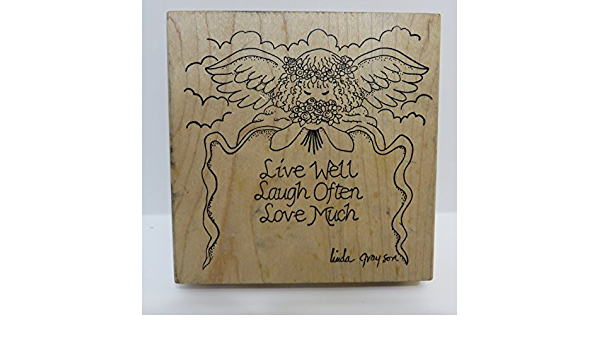 Live well laugh often love much rubber stamp