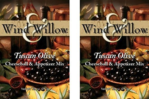 Wind & Willow International Influence Savory Cheeseball and Dip Mix (2-Pack) (Tuscan Olive) by Wind & Willow (Cheeseball Olive Tuscan)
