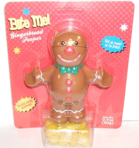 Bite Me Gingerbread Man Pooper Holiday Gift Novelty Candy ()
