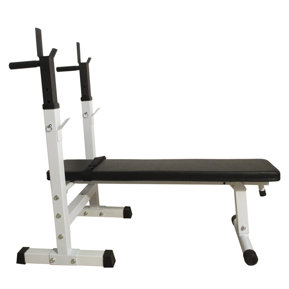 SAILSWORD Flat Olympic Weight Bench Adjustable Fitness Lifting Bench