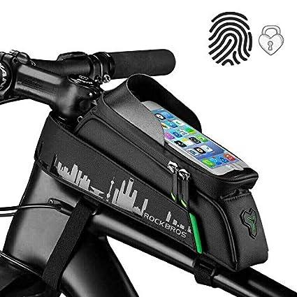 ROCKBROS Bolsa Cuadro de Bicicleta para Tubo Superior ...