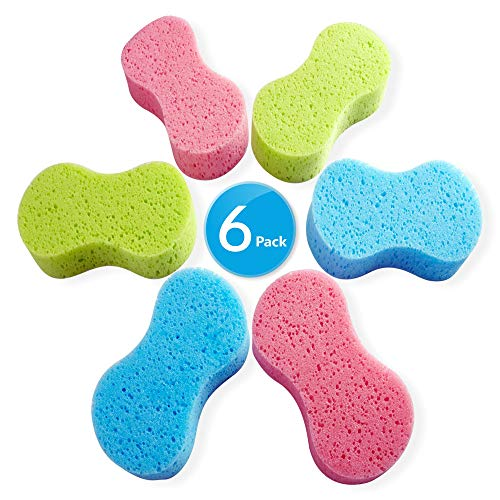 - Car Wash Sponges, Multi-Use Absorbent Sponges,Easy Grip Sponge, Large sponges for Washing Cars, Bone Design Cleaning Polishing Foam for Dishes Washing, Vehicle, Bathroom and Kitchen Cleaning, 6Pcs