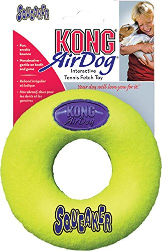 KONG Air Dog Squeakair Donut Dog Toy, Large, - Donut Cat Toy