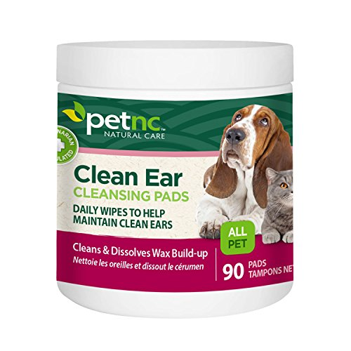 Cleansing Ear Pads (PetNC Natural Care Clean Ear Cleansing Pads for All Pets, 90 Count)