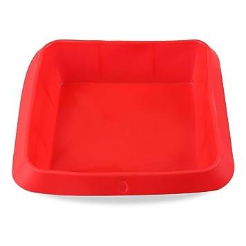 Belmalia molde de silicona para lasaña, antiadherente Rojo: Amazon.es: Hogar