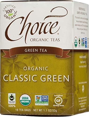 Choice Organic Teas Green Tea, 16 Tea Bags, Premium Japanese Green