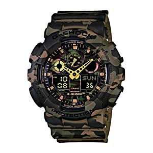 51ng1%2BWiBeL. SS300  - Casio Men's GA-100 XL Series G-Shock Quartz 200M WR Shock Resistant Watch, Woodland Camouflage (Model: GA-100CM-5ACR)