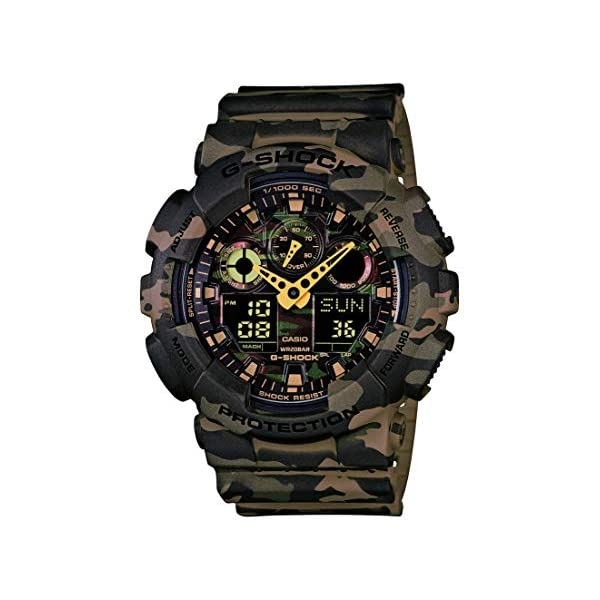 51ng1%2BWiBeL. SS600  - Casio Men's GA-100 XL Series G-Shock Quartz 200M WR Shock Resistant Watch, Woodland Camouflage (Model: GA-100CM-5ACR)