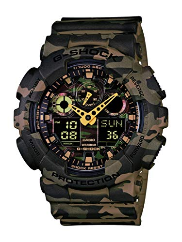 Casio Men's XL Series G-Shock Quartz 200M WR Shock Resistant Resin Color: Tan Camo (ModelGA-100CM-5ACR)