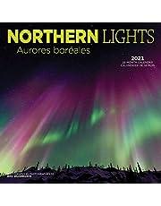 Northern Lights 2021 Bilingual French English Square Wall Calendar