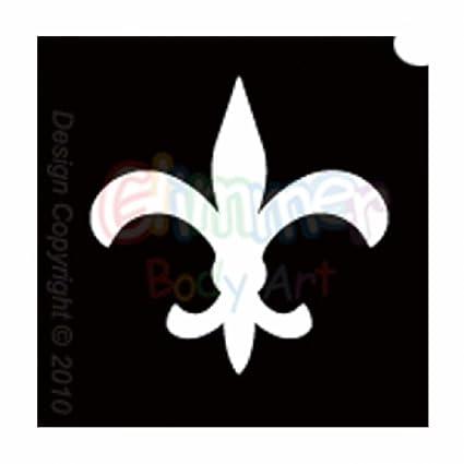 Glitter Glimmer Body Art Tattoo Stencils - Fleur de Lis (5/PACK ...