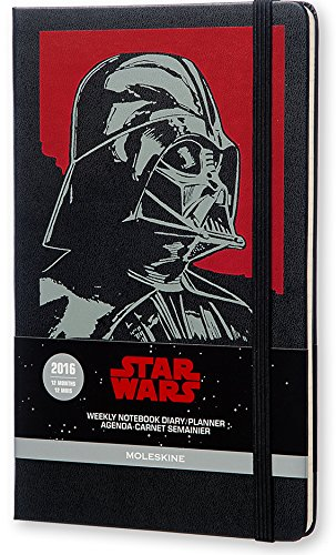 Moleskine 2016 Star Wars Limited Edition Weekly Notebook, 12M, Large, Black, Hard Cover (5 x 8.25)