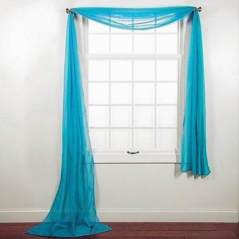 Amari Linen Valance Treatment Turquoise