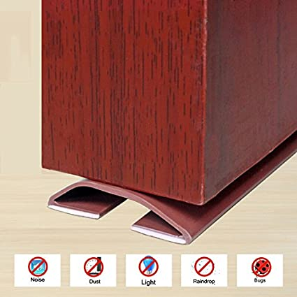 Loobani Under Door Threshold Seal Strip Draught Excluder Adhesive Bottom Weather Stripping Rubber Self Foam & Amazon.com: Loobani Under Door Threshold Seal Strip Draught Excluder ...