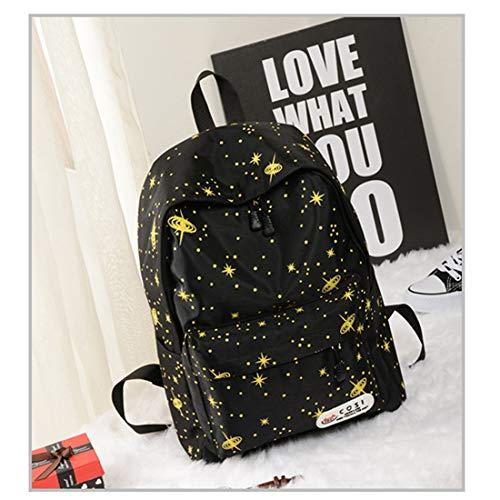 Peso Espacio Yellow School Star Commuter Mochila color Exterior Magai Bag Red Cosmos Damas De Ligero Popularidad Capacidad Gran qznEBSfxw