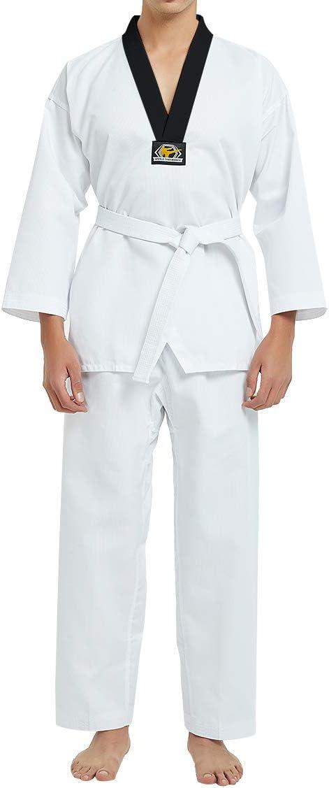 Amazon.com : TOPTIE 7.5 Oz Taekwondo Suit TKD Dobok Student ...