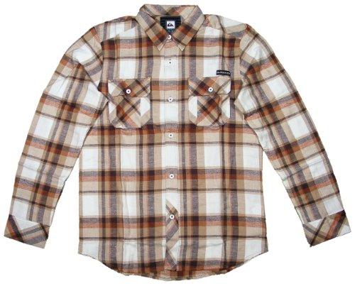Quiksilver Foundation LS Button Down Shirt - Light Grey - (Quiksilver Mens Foundation)