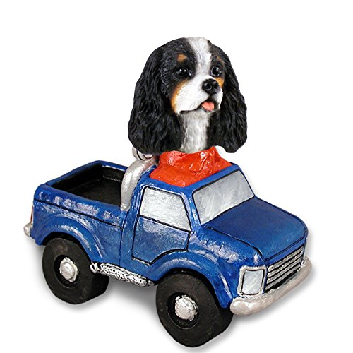 Cavalier King Charles Spaniel Black & White Pickup Doogie Collectable (Miniature Cavalier King Charles Spaniel)