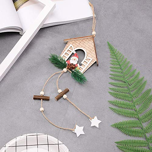 Meka-supplies - House shaped christmas tree hanging pendant wooden small hanging ornamentYF New Arrival ping