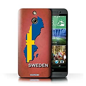 KOBALT? Protective Hard Back Phone Case / Cover for HTC One/1 E8 | Sweden/Swedish Design | Flag Nations Collection