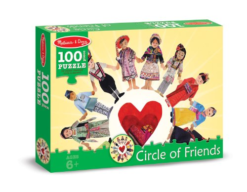 Melissa & Doug Circle of Friends International Cultures and Kids Jigsaw Puzzle (100 pcs)