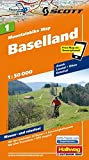 MTB-Karte 01 Baselland 1:50.000: Mountainbike Map (Hallwag Mountainbike-Karten)