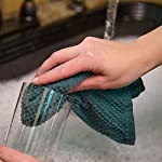 Sticky Toffee Kitchen Towels - wiping glass