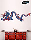 Stickerbrand Chinese Dragon Wall Decal Sticker Large Printed Full Color Graphic #MMartin147s 20in X 52in (Facing Left)