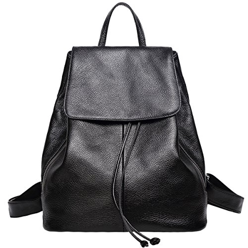 Genuine Leather Backpack for Women Elegant Ladies Travel School Shoulder Bag ()