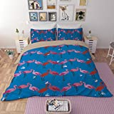 Flamingo Series Bedding Sets - MeMoreCool Polyester No Comforter No Sheet Only Covers 3 Pieces Full 1380g