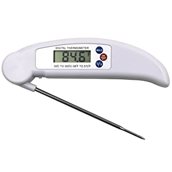 Cocina Alimentos Termómetro para carne, Rápido Lectura y preciso termómetro digital con sonda plegable para