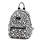 ParaCity School Backpack Lightweight Canvas Bag Rucksack Daypack Tablet Bags High School Bags Travel Bag Shoulder Backpack for Teen Girls Students (Medium, Feather)