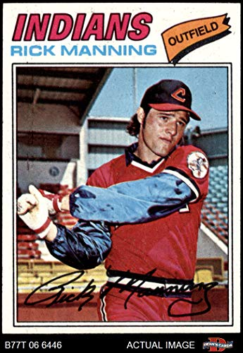 1977 Topps # 115 Rick Manning Cleveland Indians (Baseball Card) Dean's Cards 7 - NM Indians