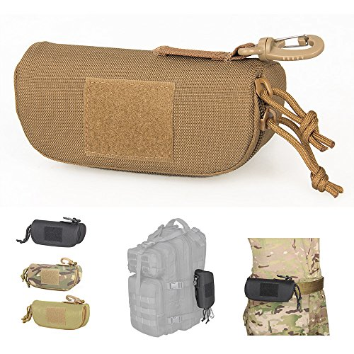 Tactical Molle Sunglasses Case Outdoor Portable Anti-Shock 1001D Nylon Hard Clamshell Carry Glasses - Sunglasses Shock