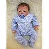 Rayish Reborn Baby Doll 18 Lifelike Realistic Baby Doll Magnetic Mouth Lovely Lifelike Cute Pink cute doll Blue eyes sleeping doll