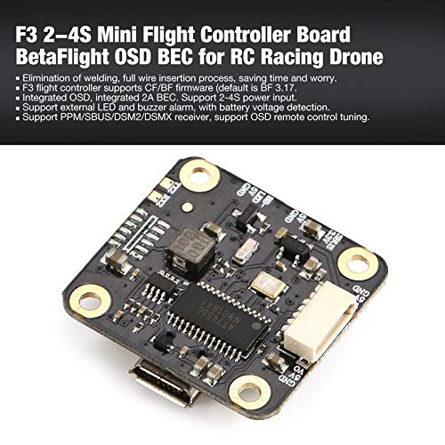 Wikiwand F3 2-4S Mini Flight Controller Board BetaFlight OSD BEC for RC Racing Drone by Wikiwand (Image #1)