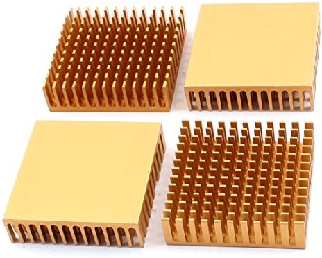 GUWANJI Aluminium Heatsink Heat Sink Radiator Fin 40x40x11mm 1pcs Gold Tone