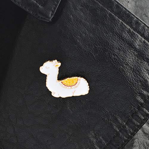 Xeminor Premium Cartoon Llama Enamel Cute Alpaca Styling Badge Brooches Pin for Women Men by Xeminor (Image #6)