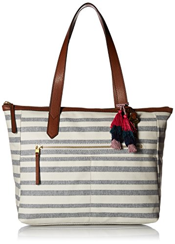 Fossil Fiona E/W Tote Bag, Blue Stripe,One Size by Fossil