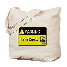 CafePress - Warning: I Am Zeus - Natural Canvas Tote Bag, Cloth Shopping Bag