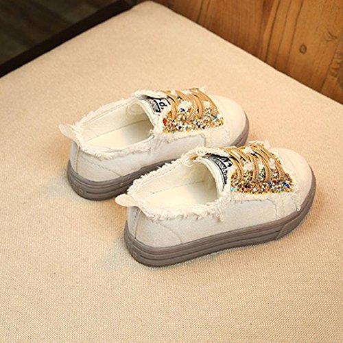 wuayi Mädchen Baby-Schuhe Gold
