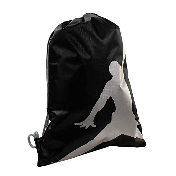 92d01a7008 Nike Air Jordan Jumpman ISO Gym Sack (Black)  Amazon.co.uk  Clothing