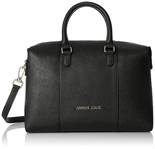 Armani Jeans Eco Saffiano Boston Bag, Nero by ARMANI JEANS