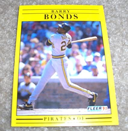 1991 Fleer Barry Bonds 33 Mlb Baseball Card At Amazons Sports