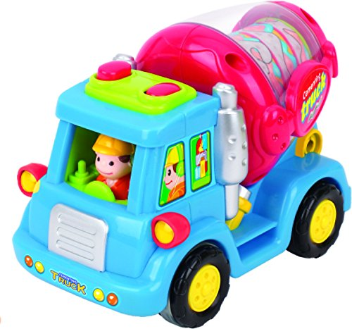 Push And Go Car Toys For Boys Early Educational Toy Cement Mixer Truck // Street Sweeper // Harvester Truck With Automatic Functions Friction Powered Push /& Go Cars Toy Vehicle Set For Toddlers