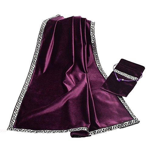 - YOUMU Gothic Altar Tarot Cards Bag Party Table Cloth Tablecloth Divination Wicca Velvet Tapestry (Purple)