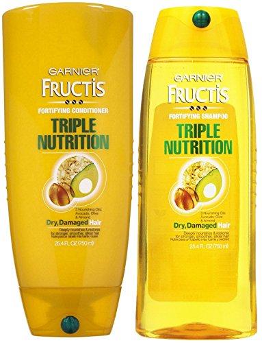 Conditioner Triple Nutrition Fructis (Garnier Fructis Fortifying Triple Nutrition, DUO set Shampoo + Conditioner, 25.4 Ounce, 1 each)