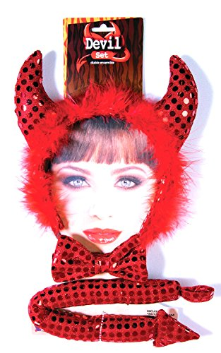 [Forum Novelties Women's Devil Accessory Kit, Red, One Size] (Sexy Devil Lady Costumes)